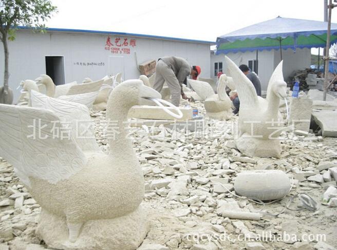 石雕动物天鹅