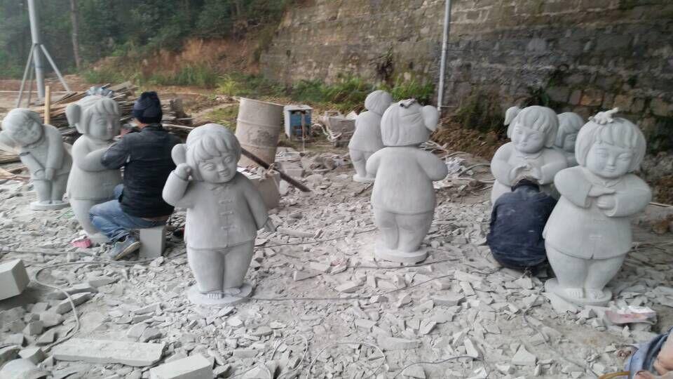 人物雕塑(梦娃,中国梦) - 北碚区春艺石材雕刻工艺厂